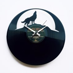 Wolf Moon Wall Clock lupo dxf file