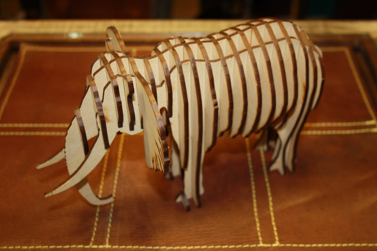 Laser Cut Elephant 3mm Dxf File Free Download 3axis Co