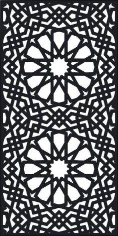 Laser Cut Screen Pattern Design Free Vector