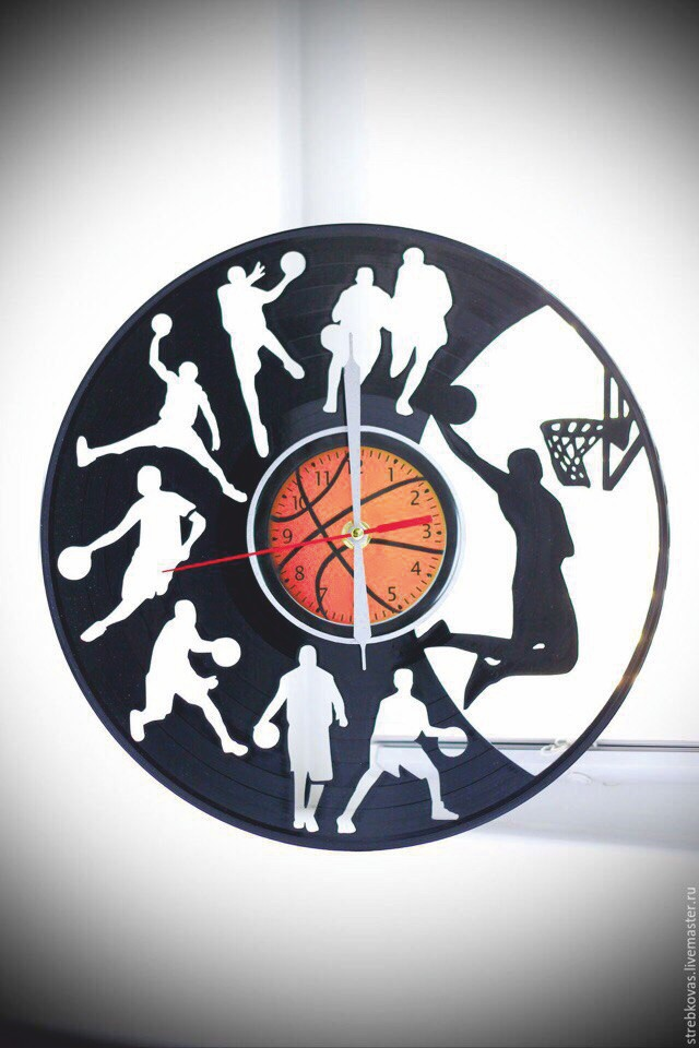 Basketball Clock DXF File Free Download - 3axis co