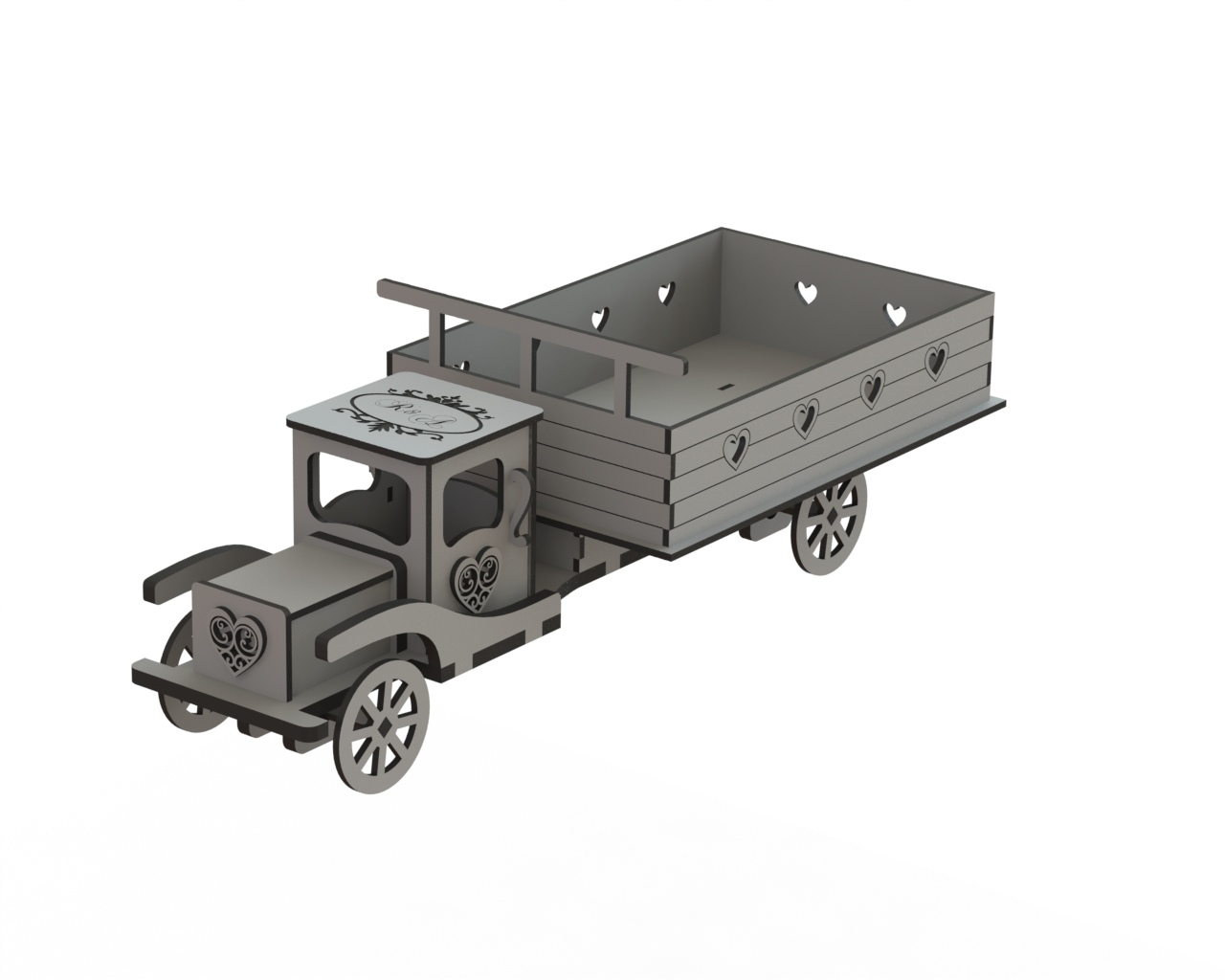Truck Laser Cut DXF File Free Download - 3axis co
