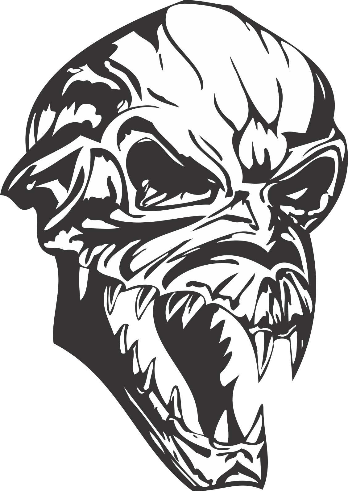 Halloween Skull Dxf File Free Download 3axis Co