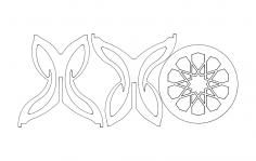Kelebek Sehpa dxf File