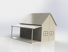 Little Western House In Wood dxf File