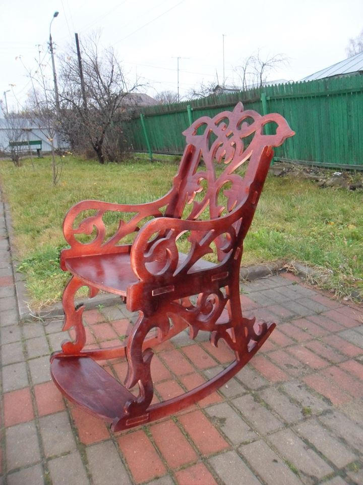 Sandalye (Rocking Chair) dxf File