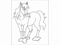 Pferd (horse) dxf File