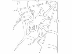 Aranha Na Teia dxf File