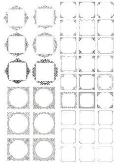 Decor Frame Vectors Set Free Vector