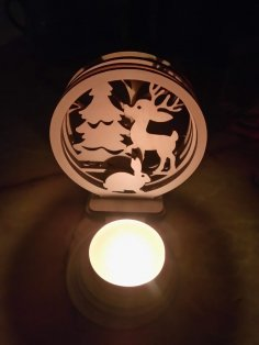 Laser Cut Candlestick Candle Holder Decoration DXF File