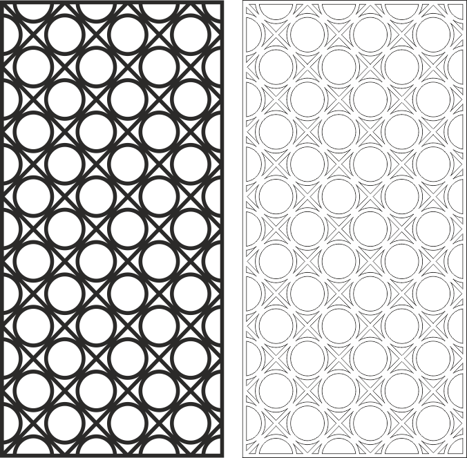 Abstract Geometric Pattern CDR File