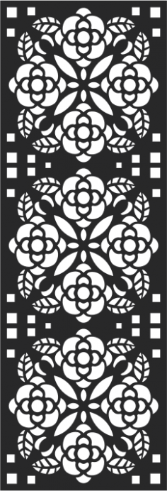 Abstract Floral Pattern Vector CDR File