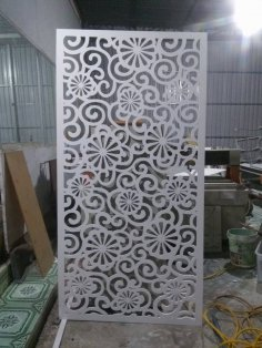 Jali Inspired Screen Pattern DXF File