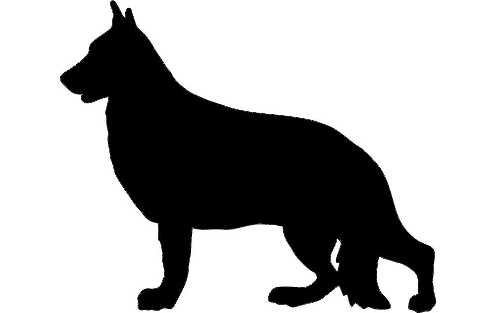 German Shepherd Dxf File Free Download 3axis Co