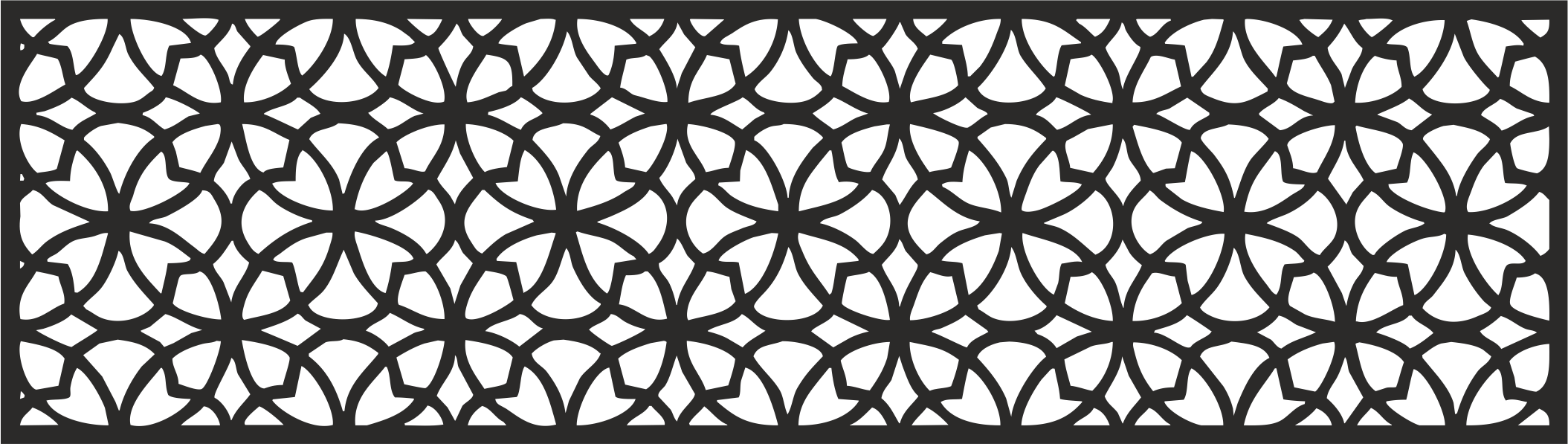 Laser Cut Pattern Template Wood Screen Free Vector Cdr