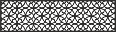 Laser Cut Pattern Template Wood Screen CDR File