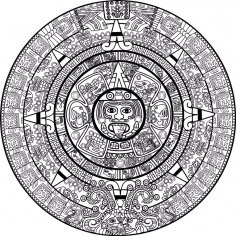 Mayan Calendar Vector Art CDR File