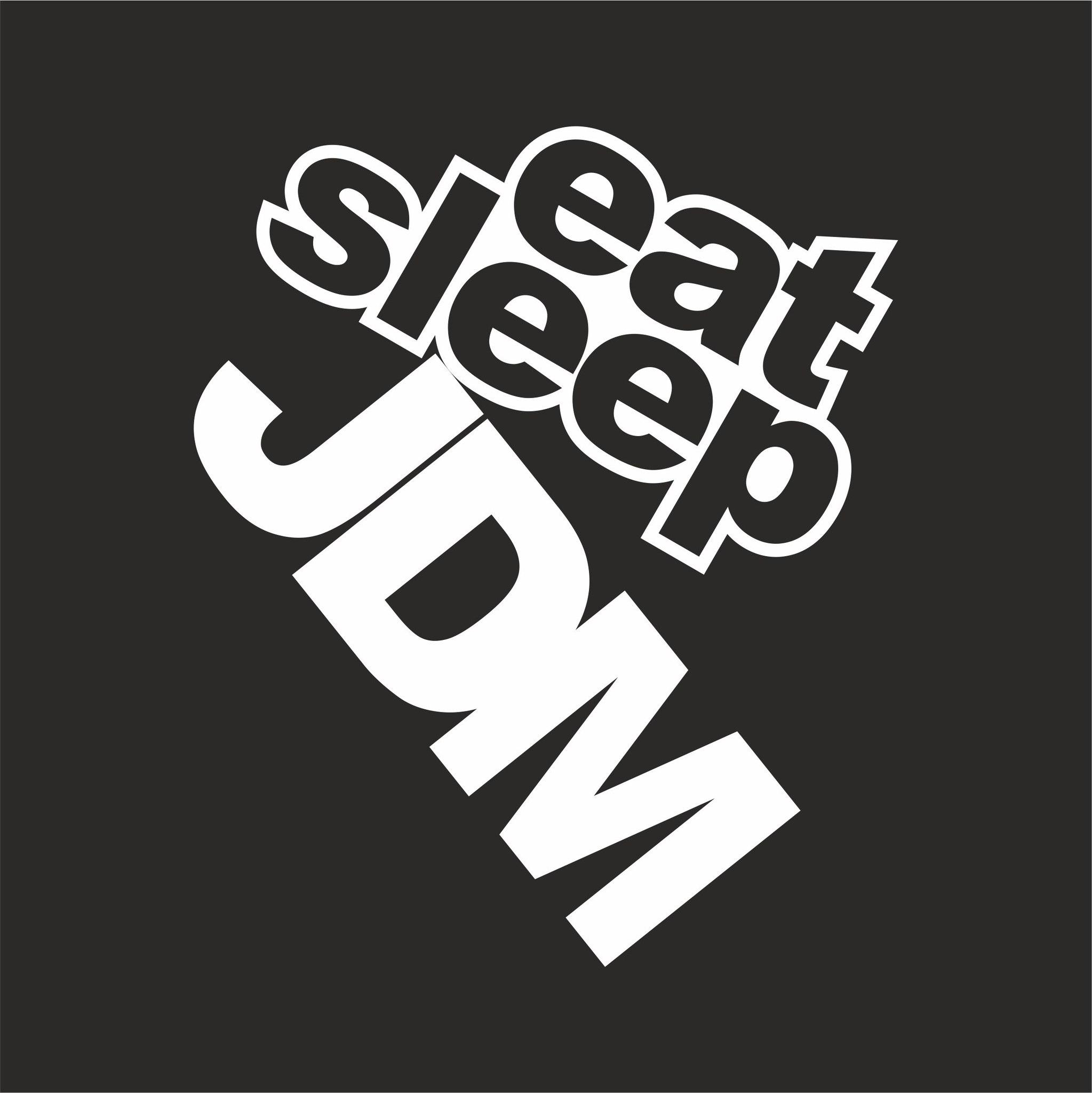 Eat Sleep JDM Sticker Vector CDR File