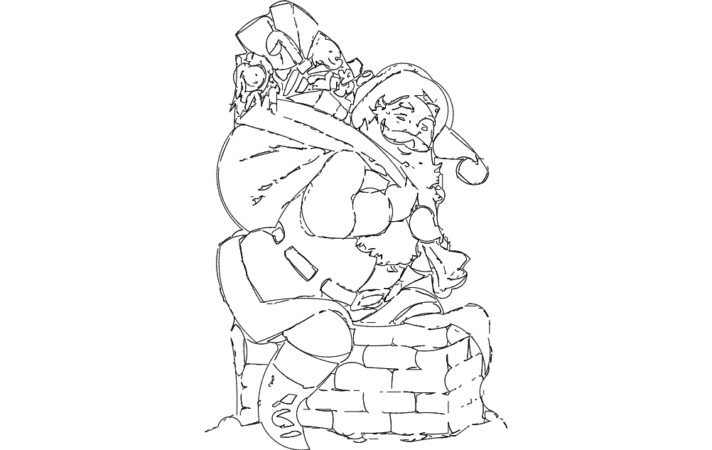 Santa Claus Dxf File Free Download 3axis Co