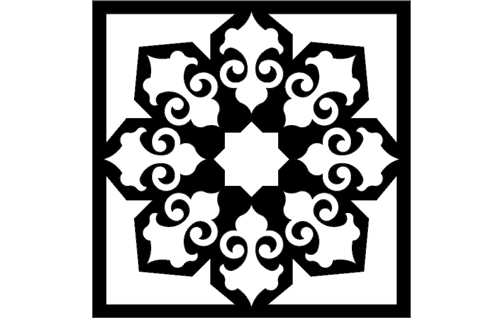 Islamic pattern dxf File Free Download - 3axis.co