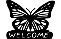 butterfly-welcome dxf File