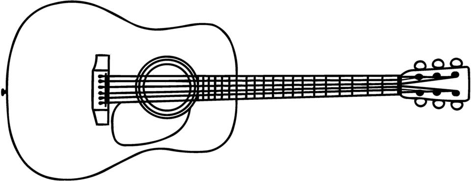 Anthonys Acoustic Guitar Outline Dxf File Free Download