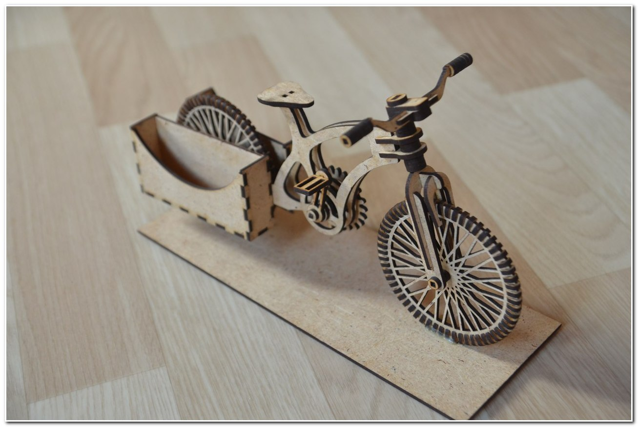 Bike Wooden Organizer 3d Puzzle Dxf File Free Download