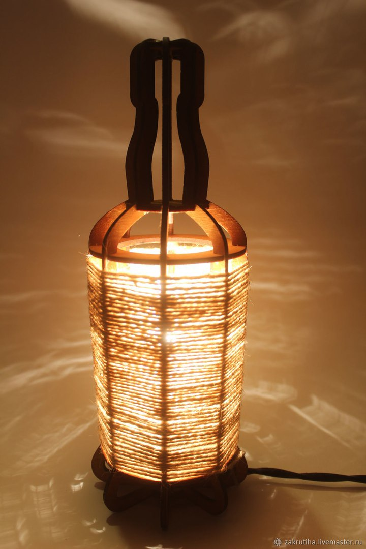 Beautiful Tabletop Night Light Lantern Plywood Laser Cut 3mm DXF File