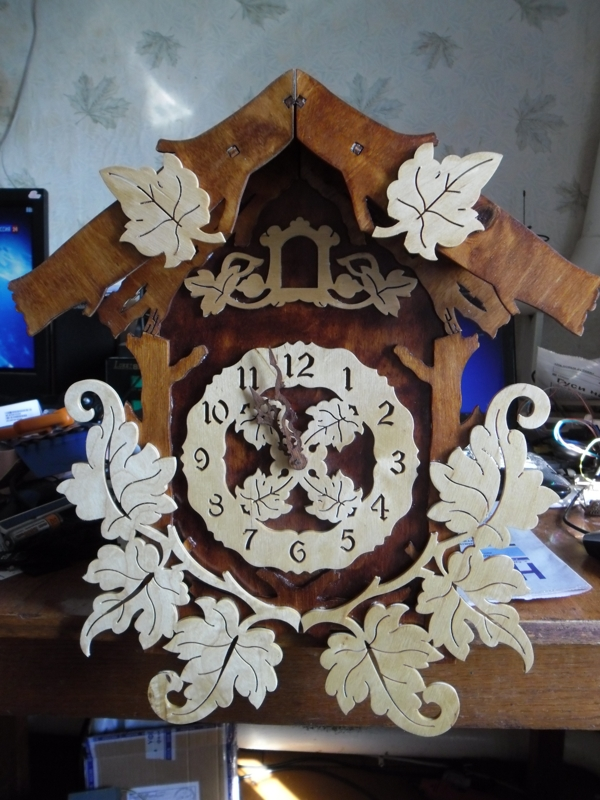 Laser Cut Pattern Cuckoo Clock DXF File Free Download - 3axis co