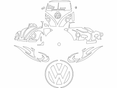 Vw Clock dxf File
