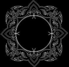 Mirror Frame 0057 dxf File