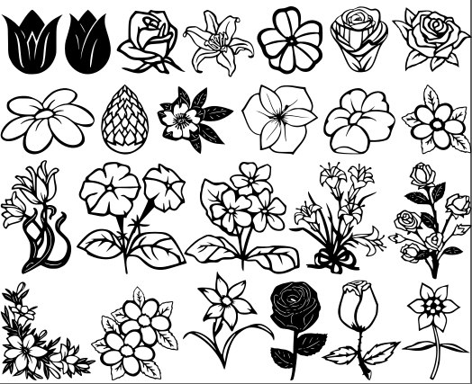 Flowers And Roses Vectors Dxf File Free Download 3axis Co