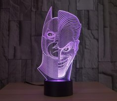 Batman Joker 3D Lamp Vector Model dxf File
