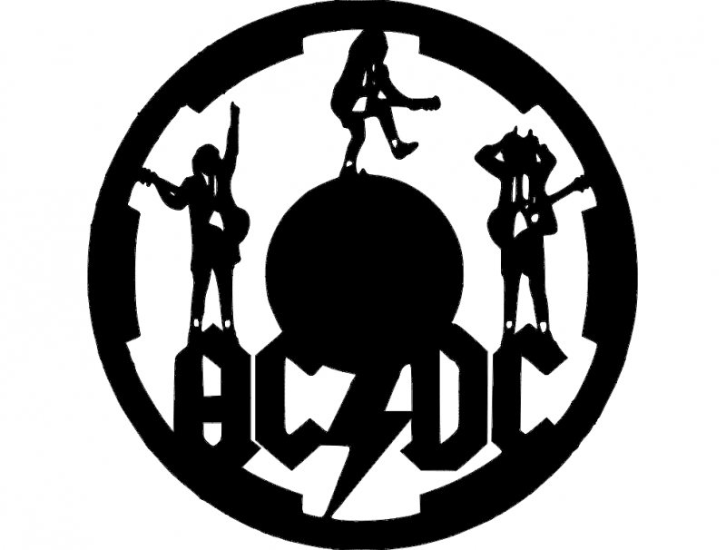 acdc clock dxf File