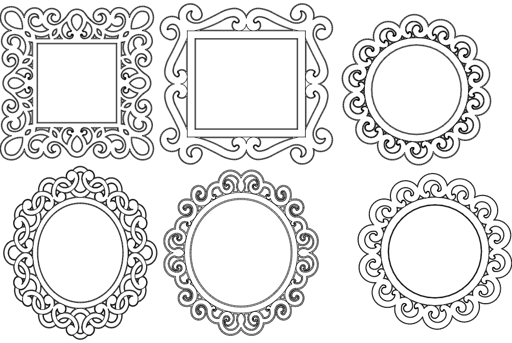 Mirror Frames dxf File Free Download - 3Axis.co