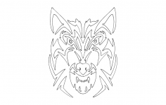 Tribal wolf dxf File