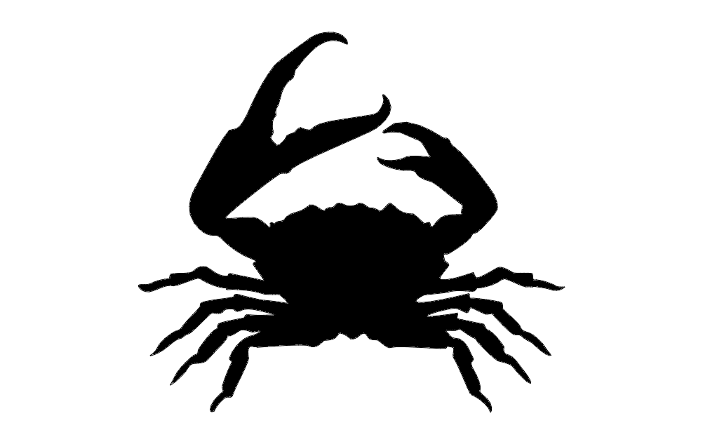 Crab Silhouette dxf File Free Download - 3axis.co