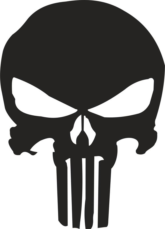 Punisher Skull Stencil Vector Free Cdr Download
