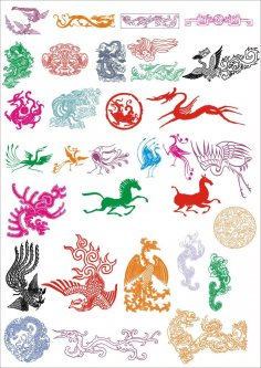 Ancient Pattern Vector Set CDR File