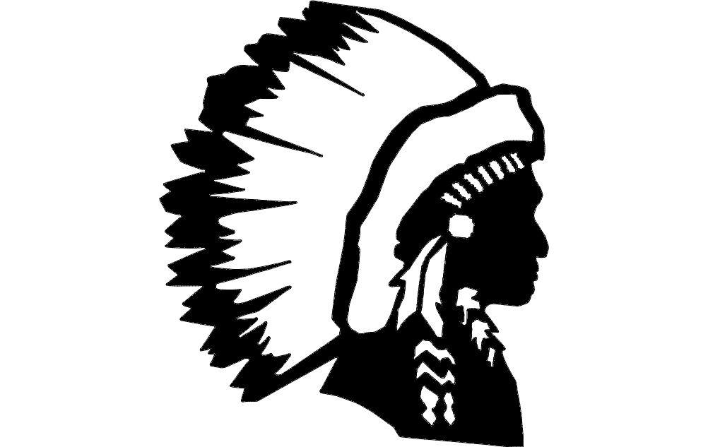 Indian Chief dxf File Free Download - 3axis.co | 1002 x 633 png 21kB