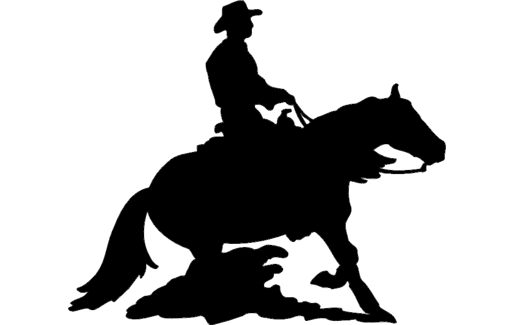Rodeo Silhouette Cowboy Dxf File Free Download 3axis Co