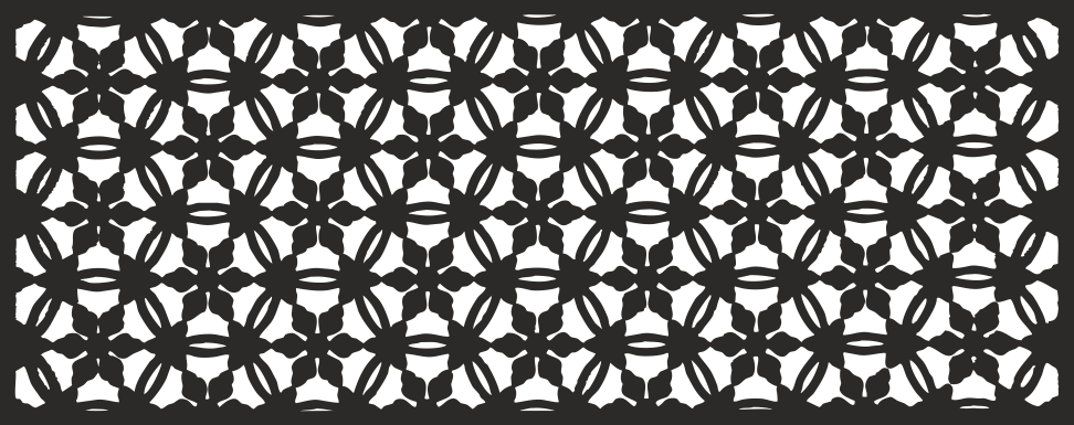Geometric Floral Pattern CDR File