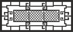 Window Grill Vector CDR File