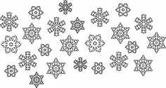 Snowflake Vectors CDR File
