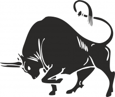 Bull silhouette vector CDR File