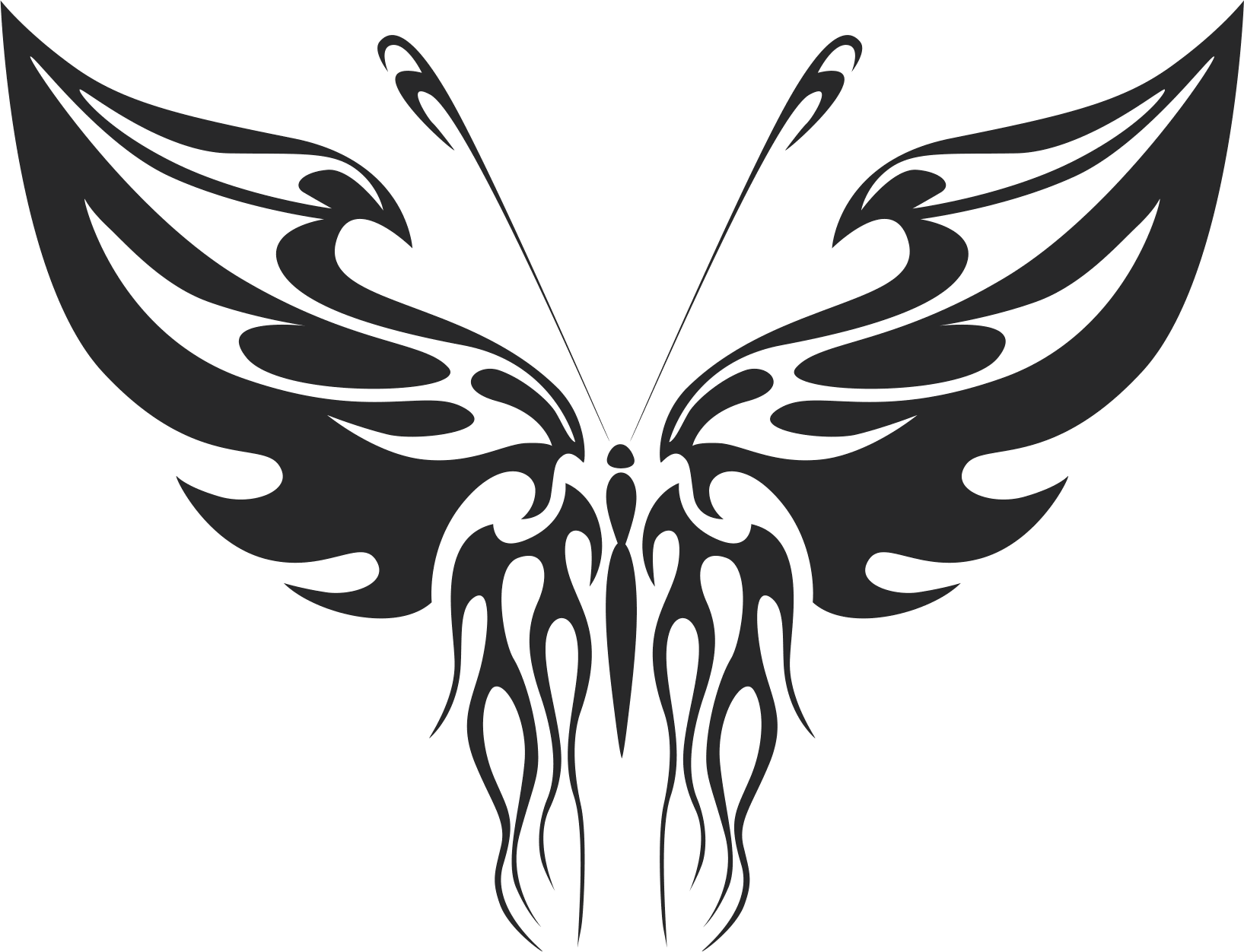 Tribal Butterfly Vector Art 32 DXF File Free Download ...