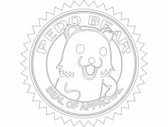 Pedo bear dxf File