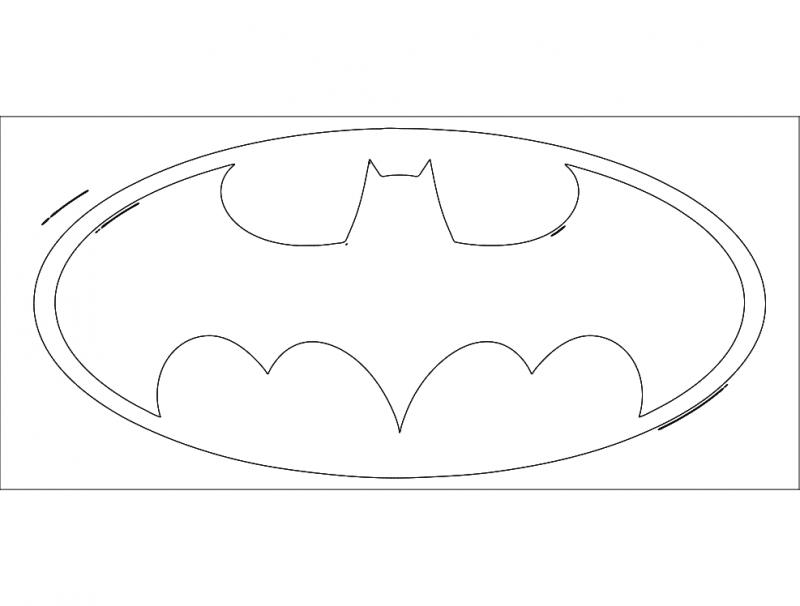 batman1 dxf file free download  3axisco