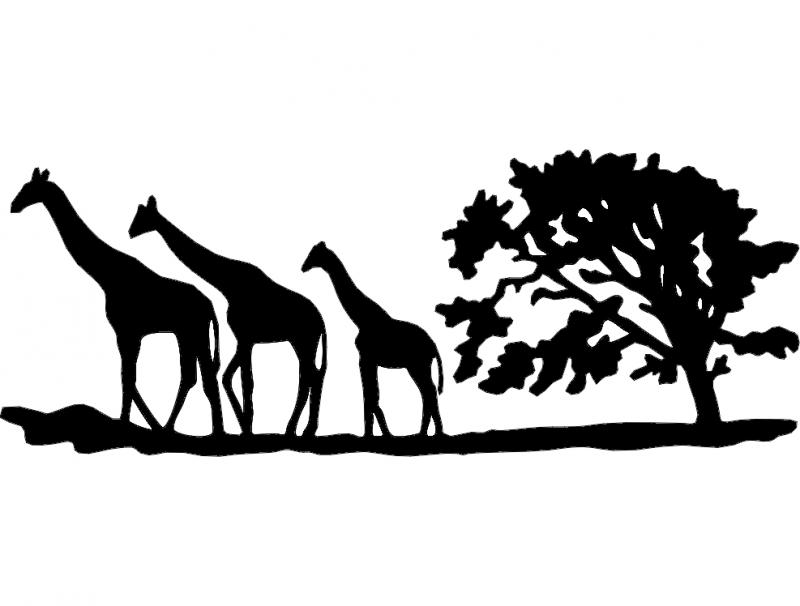 жирафы (giraffes) dxf File Free Download - 3axis co