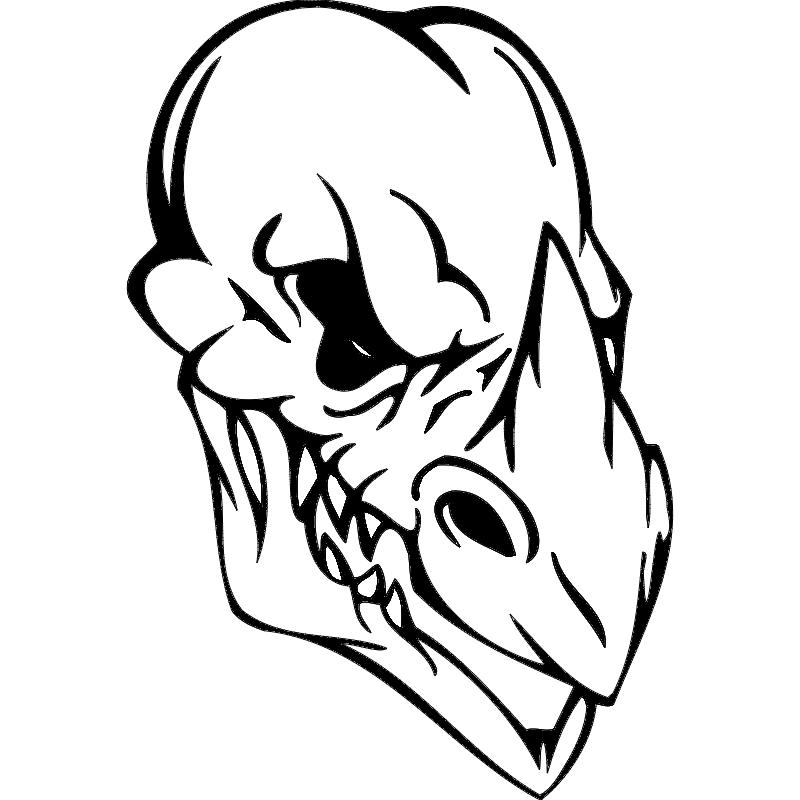 Skull 016 dxf File