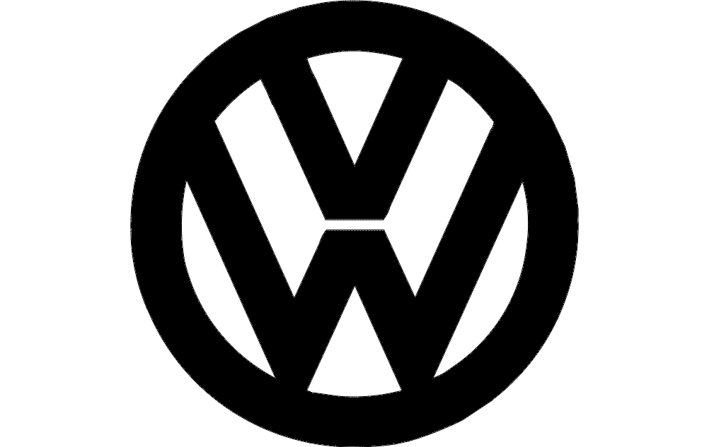 VW Logo dxf File Free Download - 3axis co